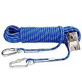 ZSM Cuerda Que Sube Cuerda Longitud de Descenso Camping/Escalada/Senderismo/Camino Que Lleva/Buceo Resistente Cuerda de Escalada Azul YMIK (Size : 10m)