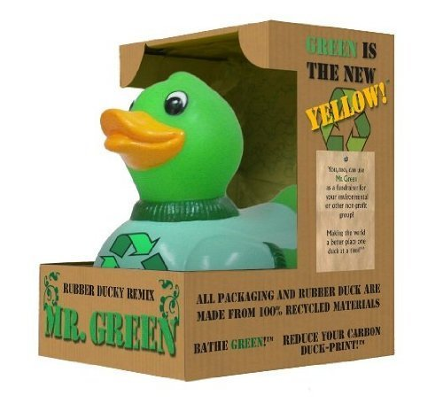 Animal World - Mr. Green Recycled Rubber Duck by CelebriDucks