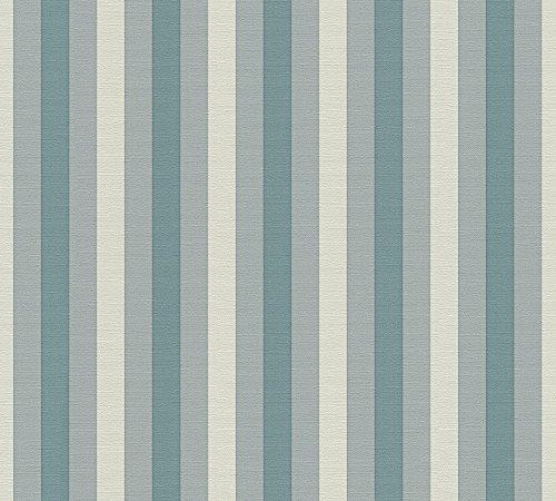 Lars Contzen Vliestapete Artist Edition No. 1 Tapete Pyjama Preféré Designertapete 10,05 m x 0,53 m blau grau Made in Germany 342121 34212-1