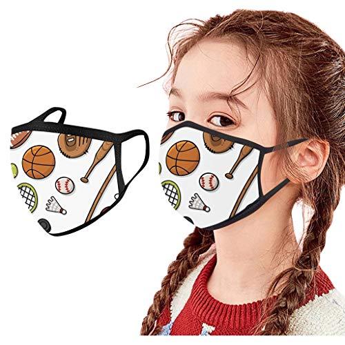 Eaylis 1 Stück Mundschutz Kinder waschbar mädchen, Mundschutz mit Motiv waschbar Anti-Staub Mundschutz Mundbedeckung Stoff Baumwolle für Laufen, Radfahren