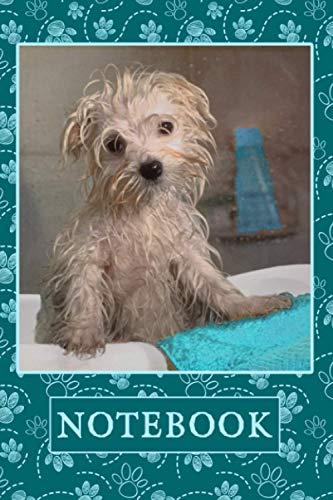Doggie Bath Time Notebook: Adorable 6x9 120 Page Dog Composition Notebook Diary Journal - Makes a Great Christmas Hanukah or Birthday Gift for Women Who Love Dogs