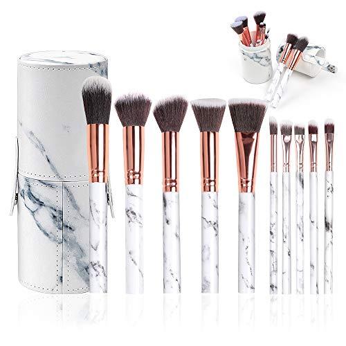 Make Up Pinsel Set, 10 Stücke Professionelle Pinselsets makeup Premium Synthetische Lidschatten Concealer Augenbraue Pulver Creme Mischen mit Pinselhalter