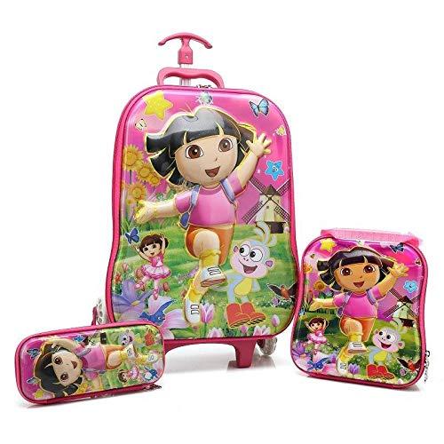 Kruiwagen voor scholieren kinderen trappen opstap koffer kinderen EVA reistas cartoon etui handkist voor kinderen