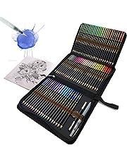 72 Lápices de Colores Acuarelables en estuche con cremallera para obtener grandes resultados, hermosos efectos cuando se mezclan con agua, Conjunto Ideal para Artistas, Adultos y Niños