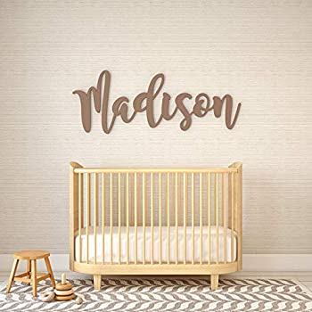 """Personalized Baby Name Sign for Nursery Decor by Panhandle Mercantile   Custom Cut & Finished   Made of Wood   Customizable Font   Choose from our 90+ Color Options   Up to 54"""" Wide"""