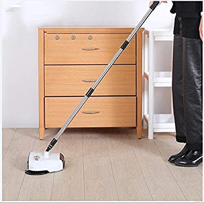 Spinning Cordless Push-Power Broom 360 Degree Rotating Cleaning Sweeper Tool, 3 in 1, Lightweight, Non-Electric, Safe, Easy To Use