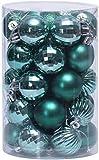 XinYiC - Juego de bolas de Navidad (6 cm, 34 unidades), diseño de Navidad
