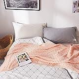 Cobija Manta Tejida sofá de la Manta ponderado Manta Manta Polar Throw Adultos Manta Manta de Felpa para casa Dormitorio (Color : Pink, Size : 120x180cm)