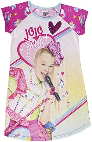 JoJo Siwa Sleepwear Dorm Bedtime Dress Nightgown with Flip Sequins Girl s 100 Polyester Pink product image