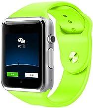 Reloj Inteligente Reloj de Pulsera Bluetooth Deporte podómetro con cámara SIM Smartwatch para Android iOS A1 Smartphone PK DZ09 (Verde)