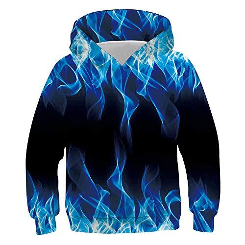 Idgreatim Juniors Sweatshirts 3D Gedruckte Kapuzenpullover Unisex Hässlicher Pullover Hoodie XL