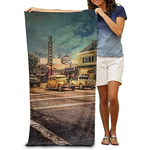 utong Toallas de Playa 100% algodón 80x130cm Toalla de Secado rápido para Nadadores Street Car Beach Beach Blanket