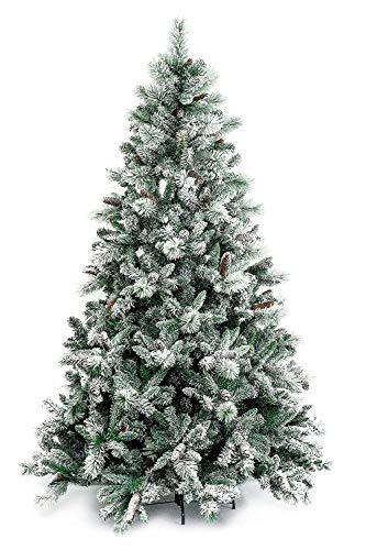 XONE Albero di Natale Gardena INNEVATO 210 CM con PIGNE