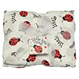 Imagine Baby Products Little Love Bug Bamboo Swaddle Blanket | Premium Muslin-Weaved Bamboo Blanket | Luxuriously Soft Fabric with A Light Stretch for A More Secure Swaddle | Muslin Security Blanket