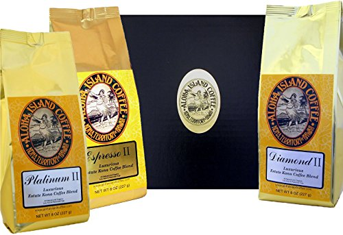 Best Coffee of the Month Club Gift, Six Months Variety of Luxurious Kona Coffee Blend, Whole Bean, First Shipment Is Gift Boxed, for Christmas, Mother's Day, Father's Day, All Occasions
