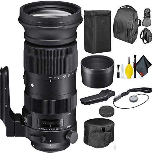 Sigma 60-600mm f/4.5-6.3 DG OS HSM Sports Lens for Canon EF + Deluxe Lens Cleaning Kit