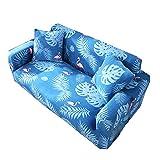 Shaoyao 1/2/3/4 Sitzer Sofabezug Sofaüberwurf Stretch Weich Elastisch Farbecht Blumen-Muster Pillow Cover X 1 3 3 Sitzer(190-230Cm/74-90)