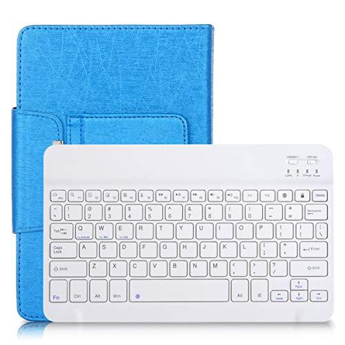 SOONHUA Funda protectora universal de poliuretano de 10 pulgadas + teclado inalámbrico BT para Android/iOS/WIN Tablet Laptop 28,5 x 20,5 x 2,2 cm