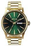 Oro / verdes Sunray El centinela SS Relojes de Nixon