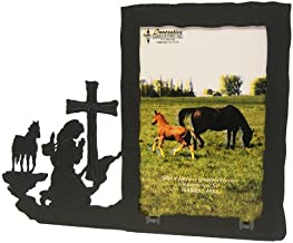 Praying Cowgirl Prayer 5X7 Vertical Picture Frame