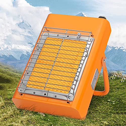 BKWJ Portable LPG Heater for Outdoor, 3000W Rapid Heating, Multifunction Gas Heater/Camping Stove, Infrared Radiant Heating, External Gas for Energy
