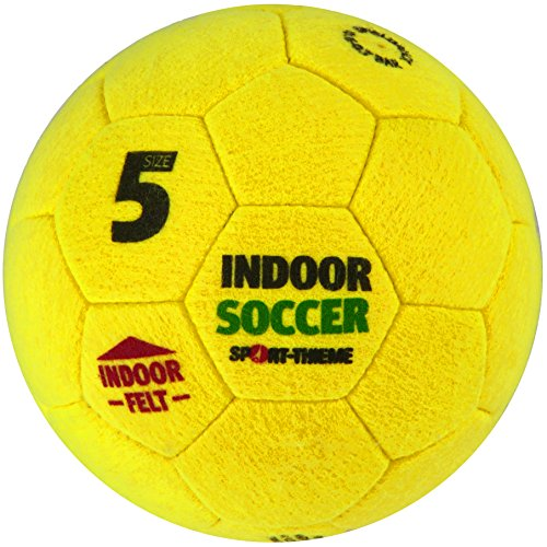 Sport-Thieme Hallenfußball Soccer | Indoor-Fußball aus Filz mit optimalen Spieleigenschaften | In Größe 4 o. 5 | 360 g o. 420 g | Umfang 64-66 cm o. 68-70 cm | Gelb | Markenqualität