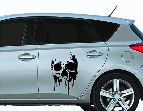 universumsum Autoaufkleber Skull Blood Totenkopf orange 20 x 30 cm bsm076-20-055 Car-Tattoos Autotattoo Auto Tuning Car Styling selbstklebend