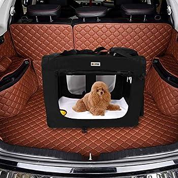 MC Star Sac de Transport Pliable pour Chien Chat Pet Chien Voiture Boîte Oxford Tissu Noir M