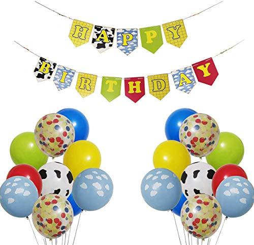 LLH Toy Story - Guirnalda de banderines para cumpleaños o fiestas