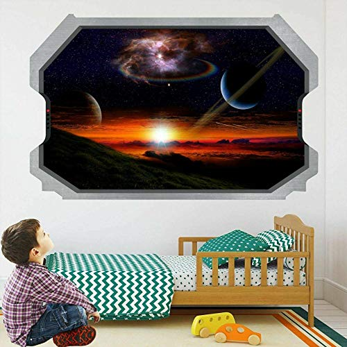 wall sticker Planets Space Galaxy Stars Astronomy 3D Wall Sticker Decal Mural Kids Room