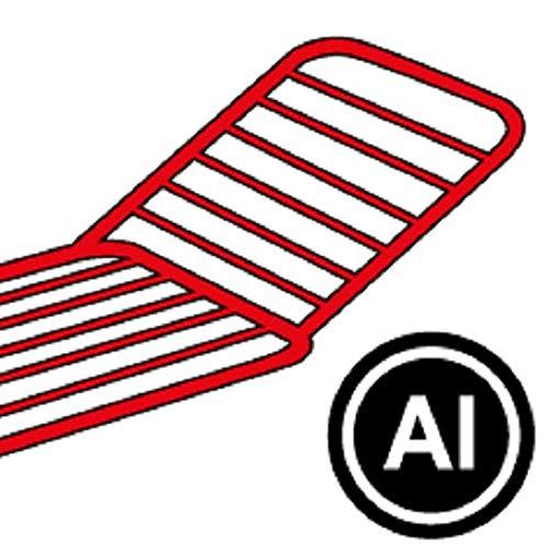 Gimi Terso Stendibiancheria da Pavimento in Alluminio, Stendino da 20 m, metallo