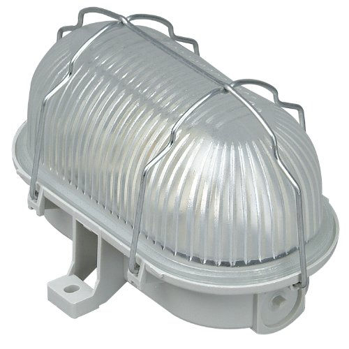 Kopp 190804042 Oval-Leuchte 60 Watt Grau, max.60W