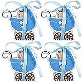 30 Piezas Caja de Regalo Bautizos, Caja de Regalo Dulces, Cajas de Regalos Dulces, Caja de Regalo Bodas, para Bodas, Bautizos, Regalos, Fiestas, Cumpleaños (Azul)