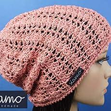 Sommer-Beanie ROM II capriblau//t/ürkis Sommer-M/ütze von siamo-handmade Baumwolle