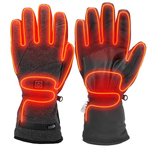 Sunbond Electric Heated Gloves Outdoor Indoor Battery Powered Heating Winter Windproof Gloves for Men and Women Outdoor Warm Motorcycle Riding Hunting Skiing Cycling (Large)