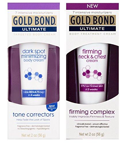 GOLD BOND ULTIMATE Dark Spot Minimizing Cream & Firming Neck/Chest Cream