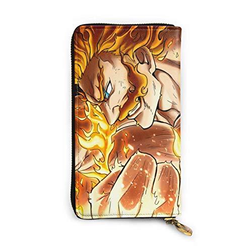 Seven Deadly Sins - Cartera de piel multifuncional con impresión de doble cara de ancho completo que puede contener tarjetas de crédito y teléfonos móviles para hombres y mujeres