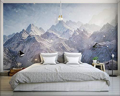 3d behang majestueuze Kunlun Mountain HD fotobehang met muurschildering scroll woonkamer slaapkamer behang-250 * 175cm