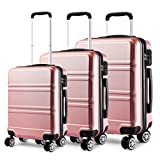 Kono <span class='highlight'>Luggage</span> <span class='highlight'>Sets</span> of 3 Piece Lightweight 4 Spinner Wheels Hard Shell Trolley Case 20