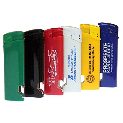 200x Feuerzeug Costa Rica SCHWARZ mit Druck Werbung Logo 1-seitig Bedruckt 1-farbig