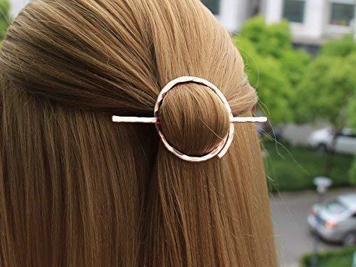 Pair of Open Rectangle Unsprung Hair Barrette Clips Slides 6cm Hair Accessories