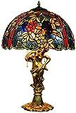 MARUA Lampada della Tabella di Tiffany di Stile di Gioielli in Vetro Progetto di Tipo A Colori A 16 Pollici di UVA Lampade da Tavolo Studio di Base di Notte della Luce E27 Salotto Antica Sala