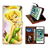 for iPhone 6 Plus, iPhone 6S Plus Wallet Case Tinkerbell Flip Leather Case with Kickstand PU Leather Stand Folio Cover Case for iPhone 6/6S Plus