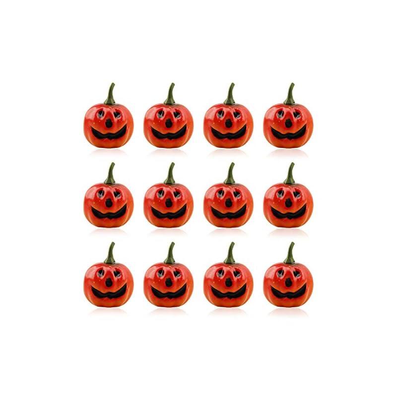 silk flower arrangements lainrrew 12 pcs mini artificial pumpkins, lifelike simulation mini pumpkins for halloween thanksgiving autumn theme party decorations