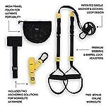 Entraînement TRX - GO Suspension Trainer Kit, le système d'entraînement par suspension le plus léger, le plus fin jamais conçu - parfait pour voyager et s'entraîner à l'intérieur ou dehors (Noir). #3