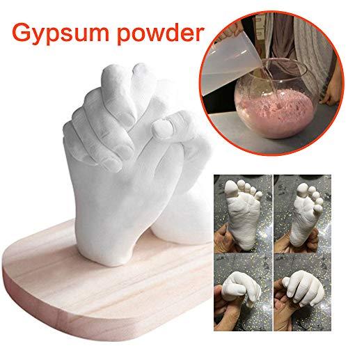 PZNSPY Witte Baby Mould Moederdag Gips Poeder Souvenir Paar Klonen Poeder Model Mode DIY Hand Mold Hands voeten Gift