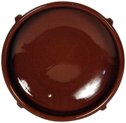 Amazing Cookware Plat Rond en Terre Cuite Marron 36 cm