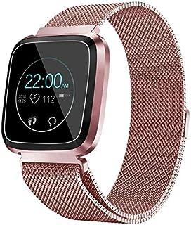 WJFQ Reloj Inteligente Al Aire Libre rastreador de Ejercicios Reloj Pulsera Inteligente con monitores de presión de oxígeno en Sangre del Contador de Pasos for Android iOS for Niños Hombres Mujeres
