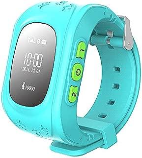 Hangang GPS Tracker Niños Safe Smartwatch Sos Llamadas Localizador de localización de localizador Localizador Para niños Anti Lost Monitor Baby Son Reloj de pulsera (Azul)