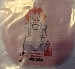 Chicken Scratch Baby Bib Kit - Pink Gingham with Rag Doll Cross Stitch Design